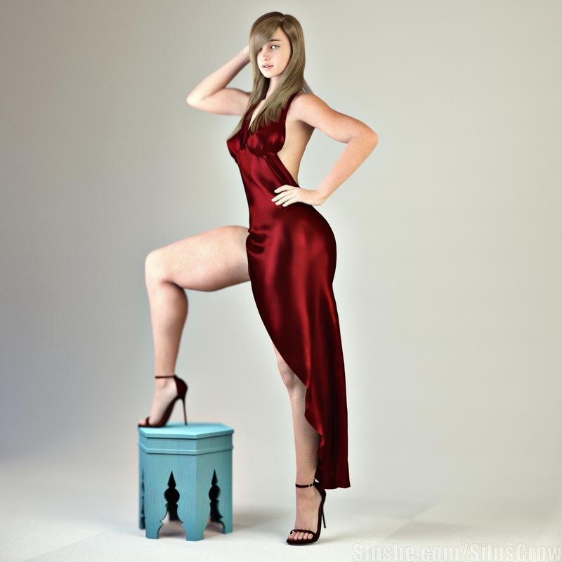 Charlotte -  Slinky Dress