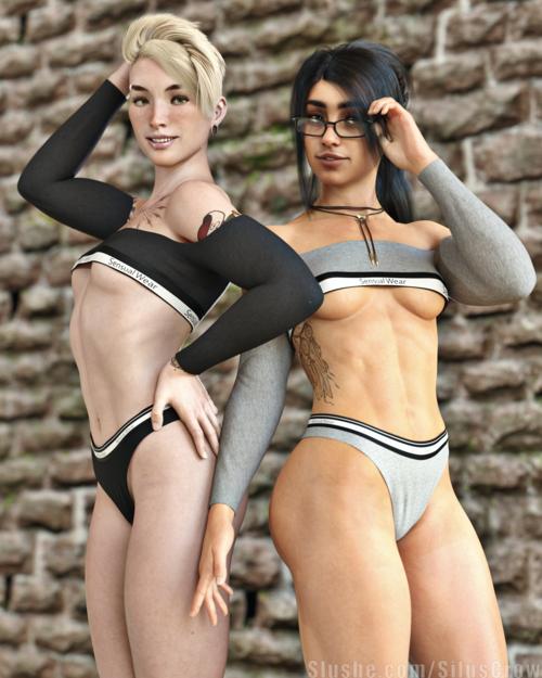 Erin & Nadia - Sweaters & Bikini