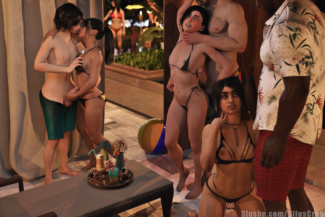 Ash, Cass, Nadia, & Sophia - Pool Party