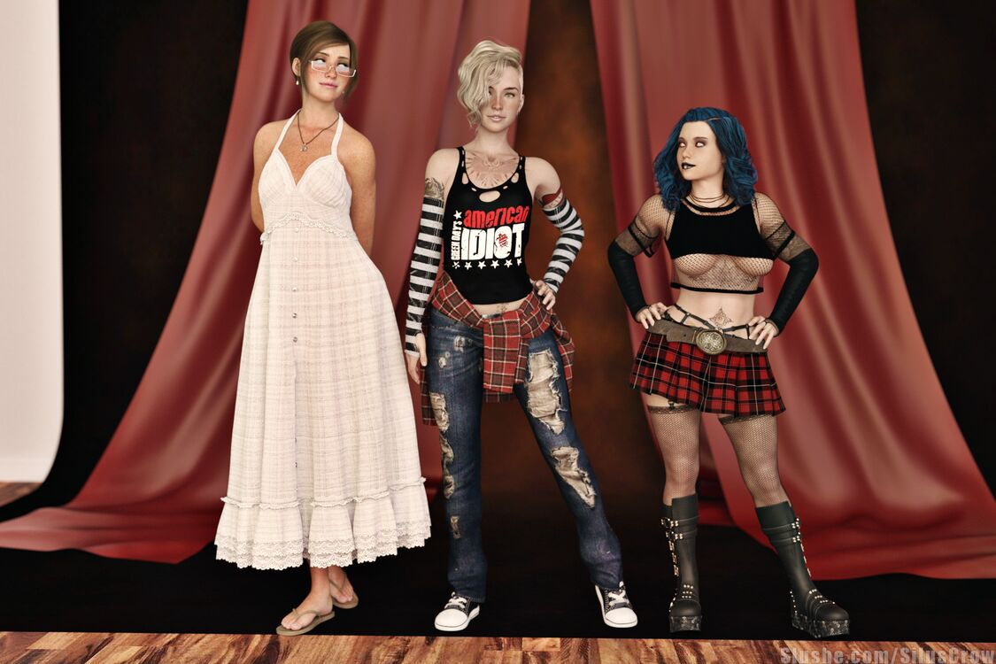 Erin, Illania, & Mary - Outfit Swap