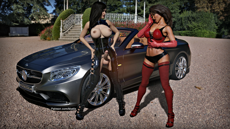 Lexi and Leona with Roadster #2