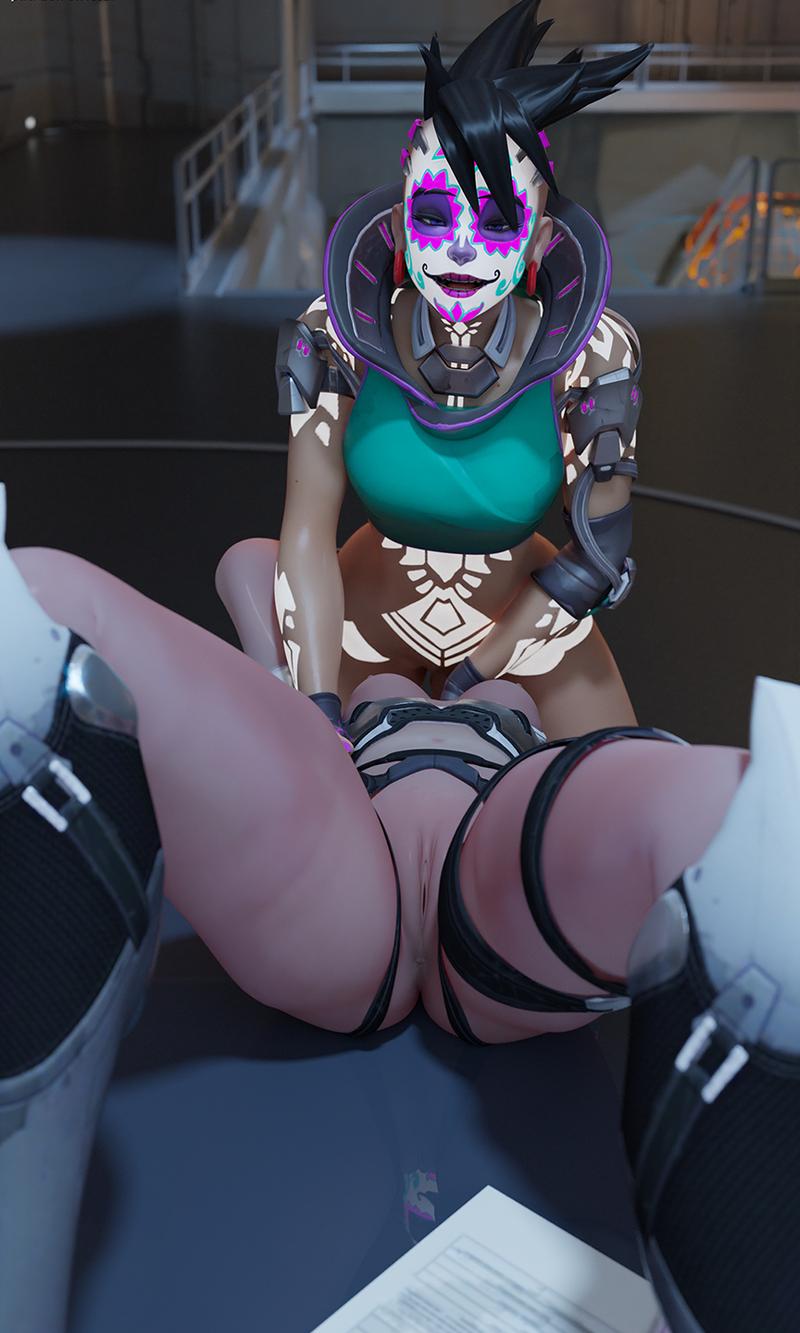 Sombra facefucking Widowmaker