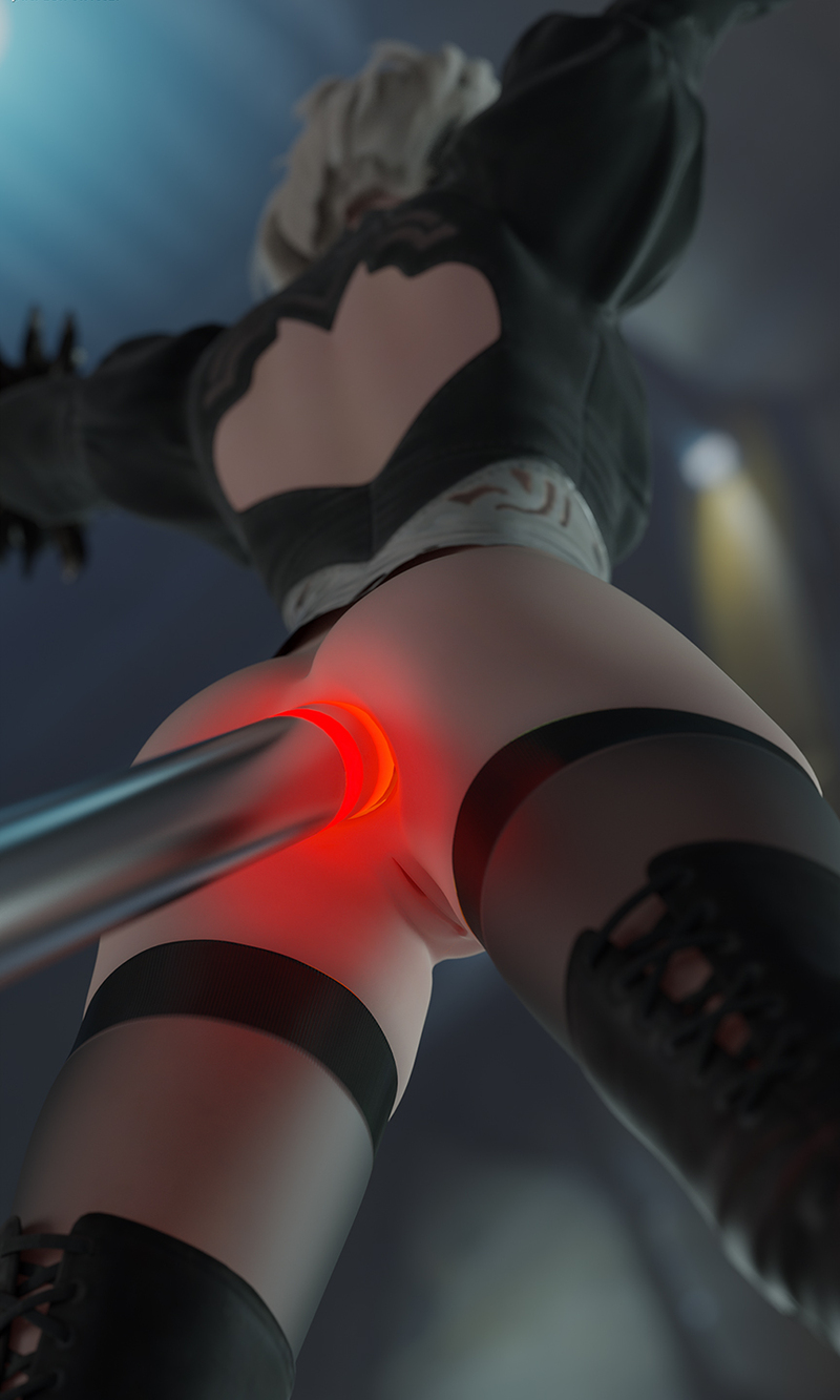 2B fucked in the ass