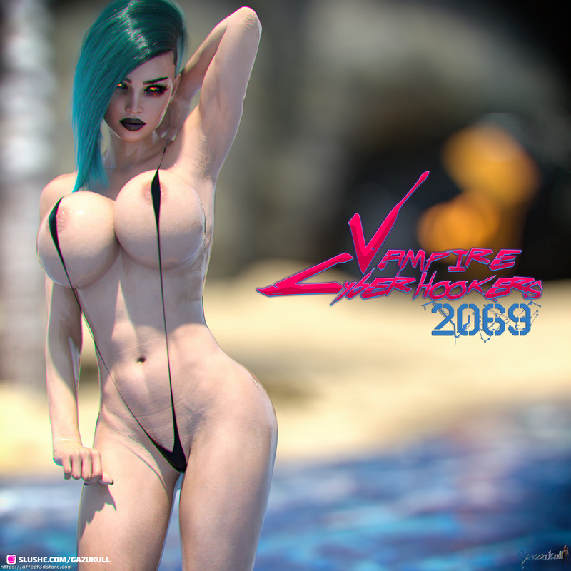 VAMPIRE CYBER HOOKERS 2069 AT THE BEACH