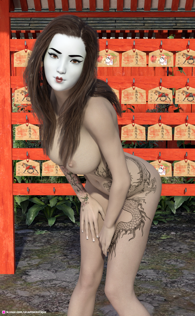 Geisha Pin Up