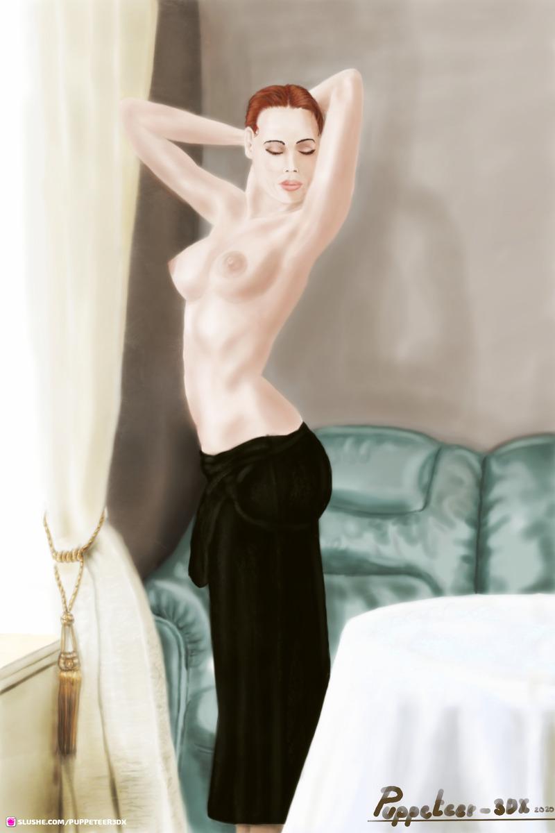 Black Dress in the Livingroom...