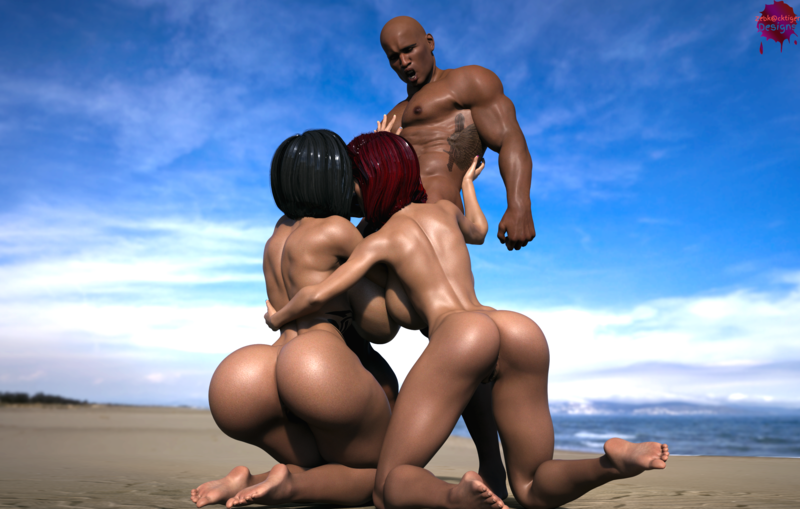 Sex on the beach part 3 2 girls and a guy :p