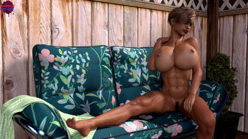 Jane on couch just chilling close to the hot tube for more sex scene