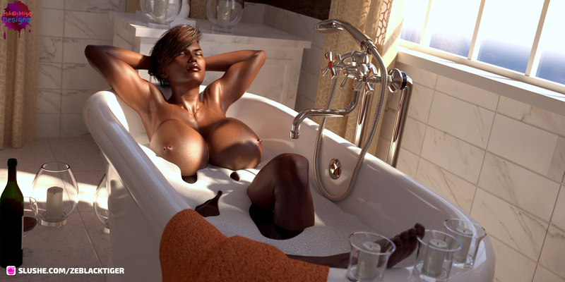 jane in the bath