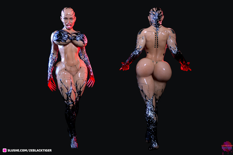 Evil Cyborg transmuted from belinda body