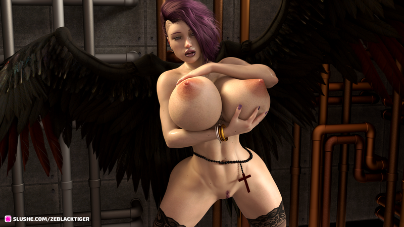 """Evil""ina after her sins power, she got transformation in pervert babe"