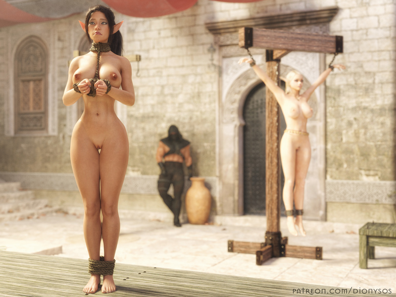 Elf Nia at the slave market