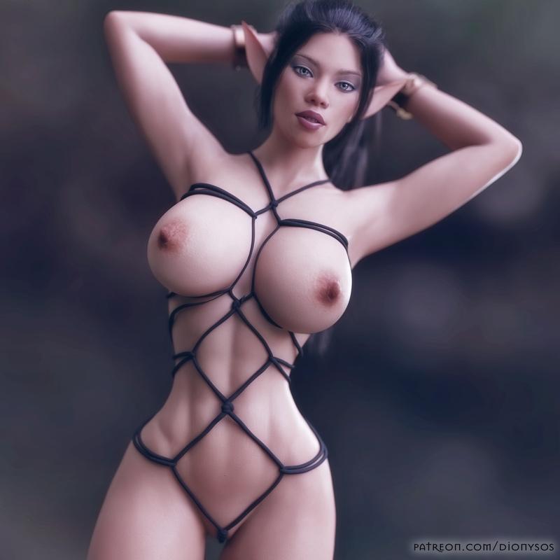 Elf Nia - Rope Bondage