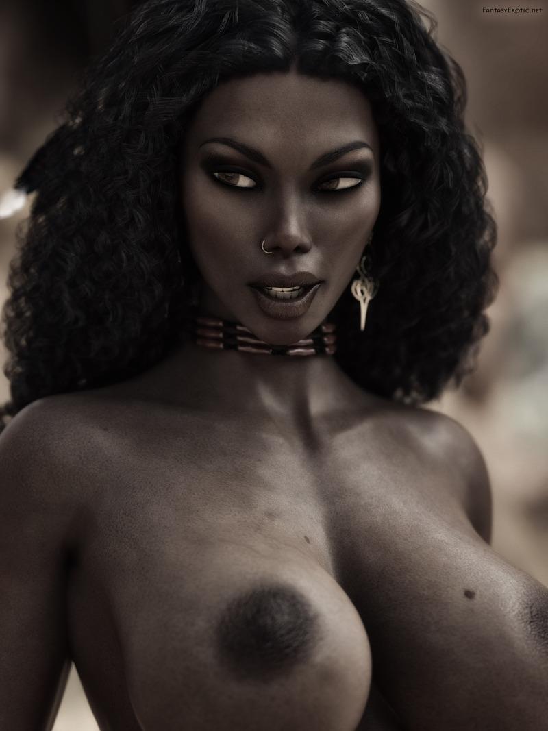 Topless Native American Woman