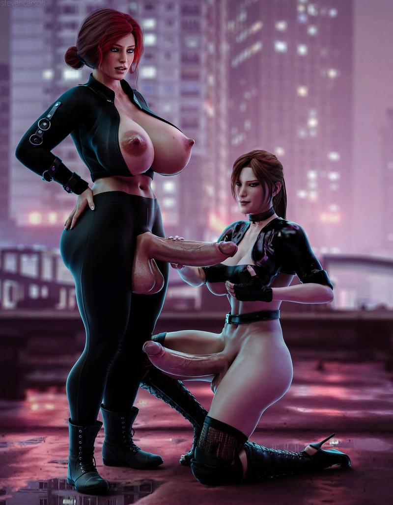 Triss Merigold & Lara Croft