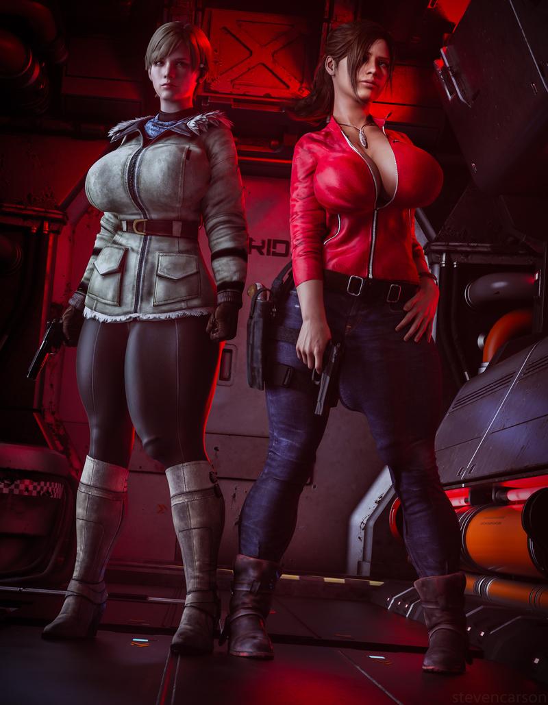 Sherry Birkin and Claire Redfield