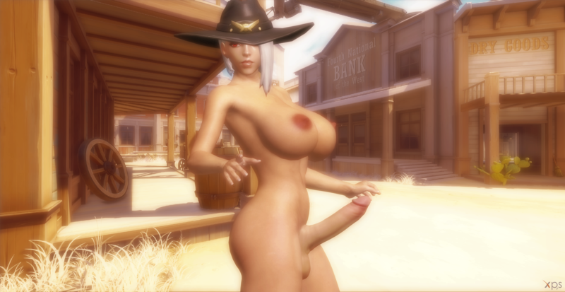 OW Busty Ashe (Shemale And Futa Version )