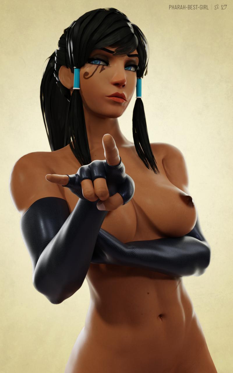 Pharah doing her best Korra impersonation