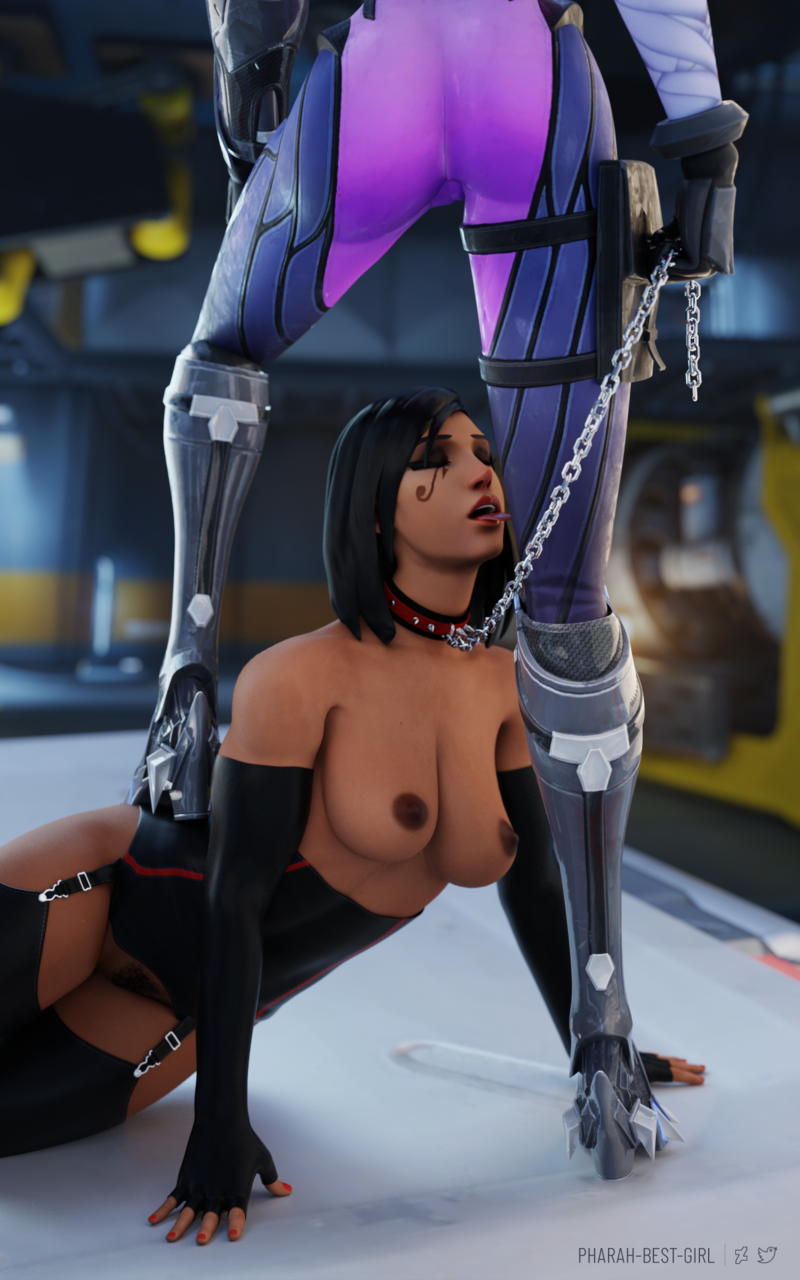 Pharah being submissive