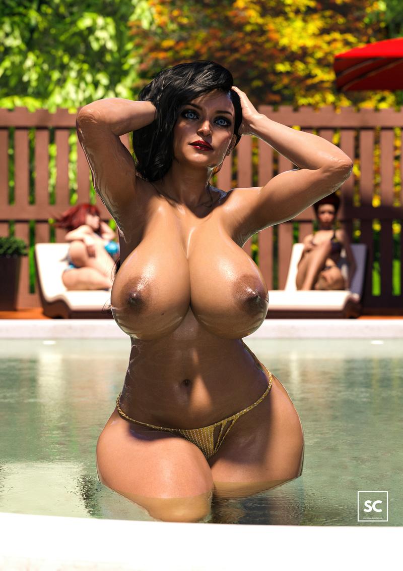 Big Butt Slut in the Summer Pool II