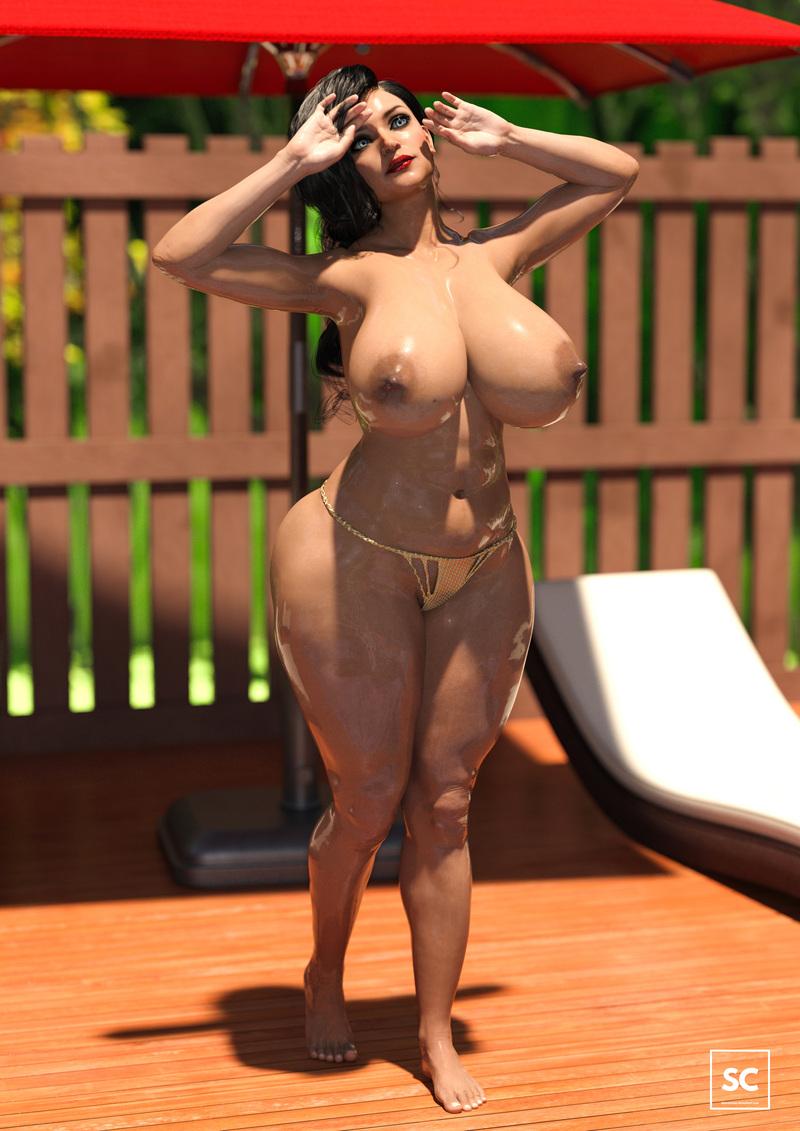 Big Butt Slut in the Summer Pool III