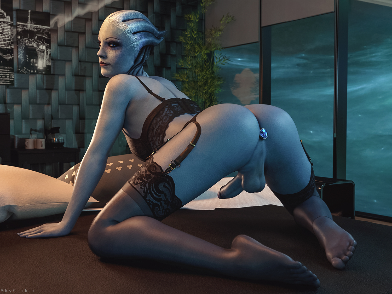 Blue butt