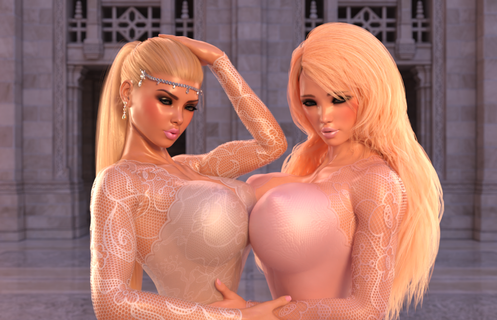 Two bridal bimbos