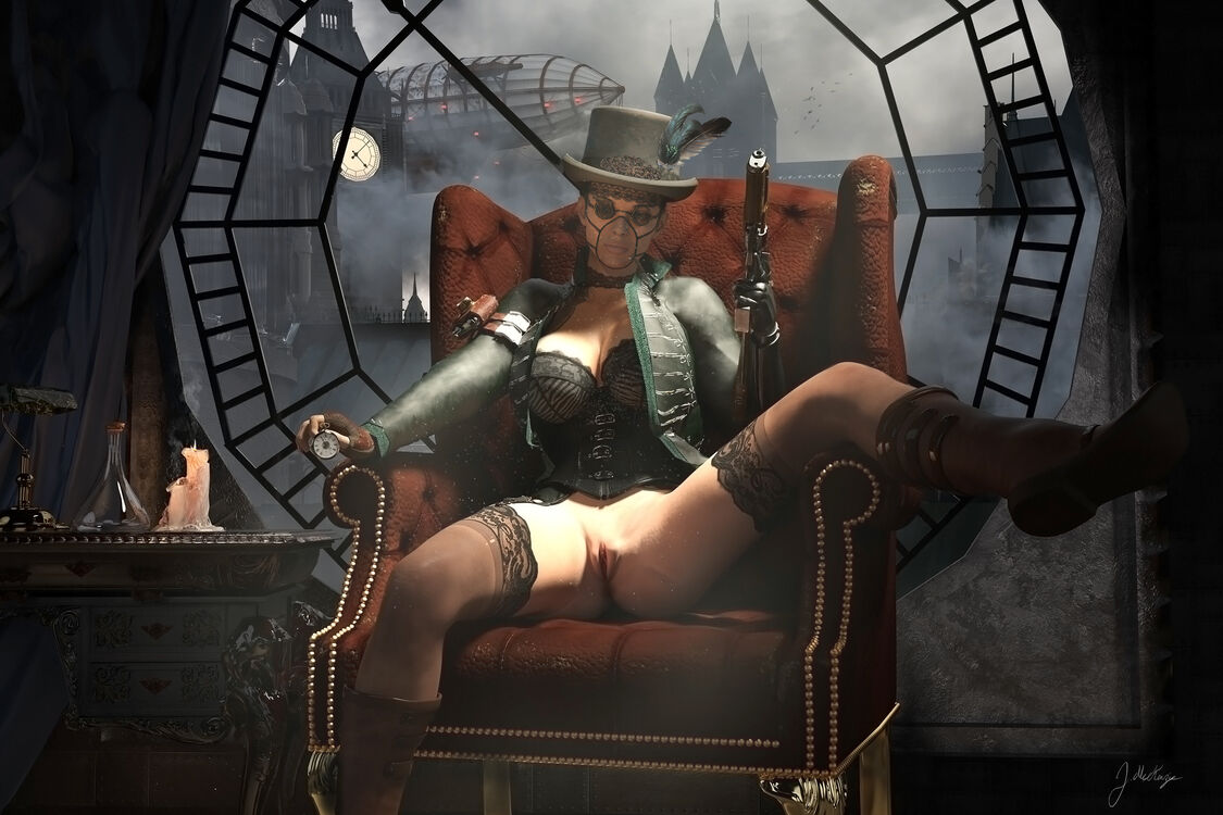 Never make a lady wait, Steampunk2021