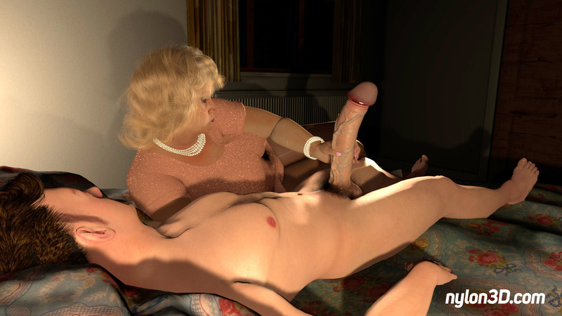 Mother in law playing with big dick