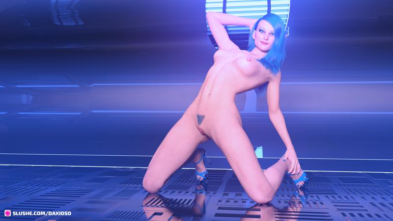 Dakcy: Kneeling Neon