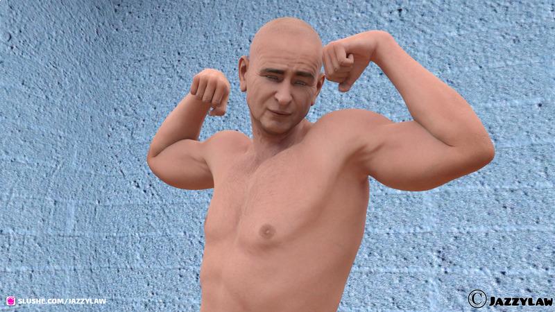Meet Randy - Naked Flexing