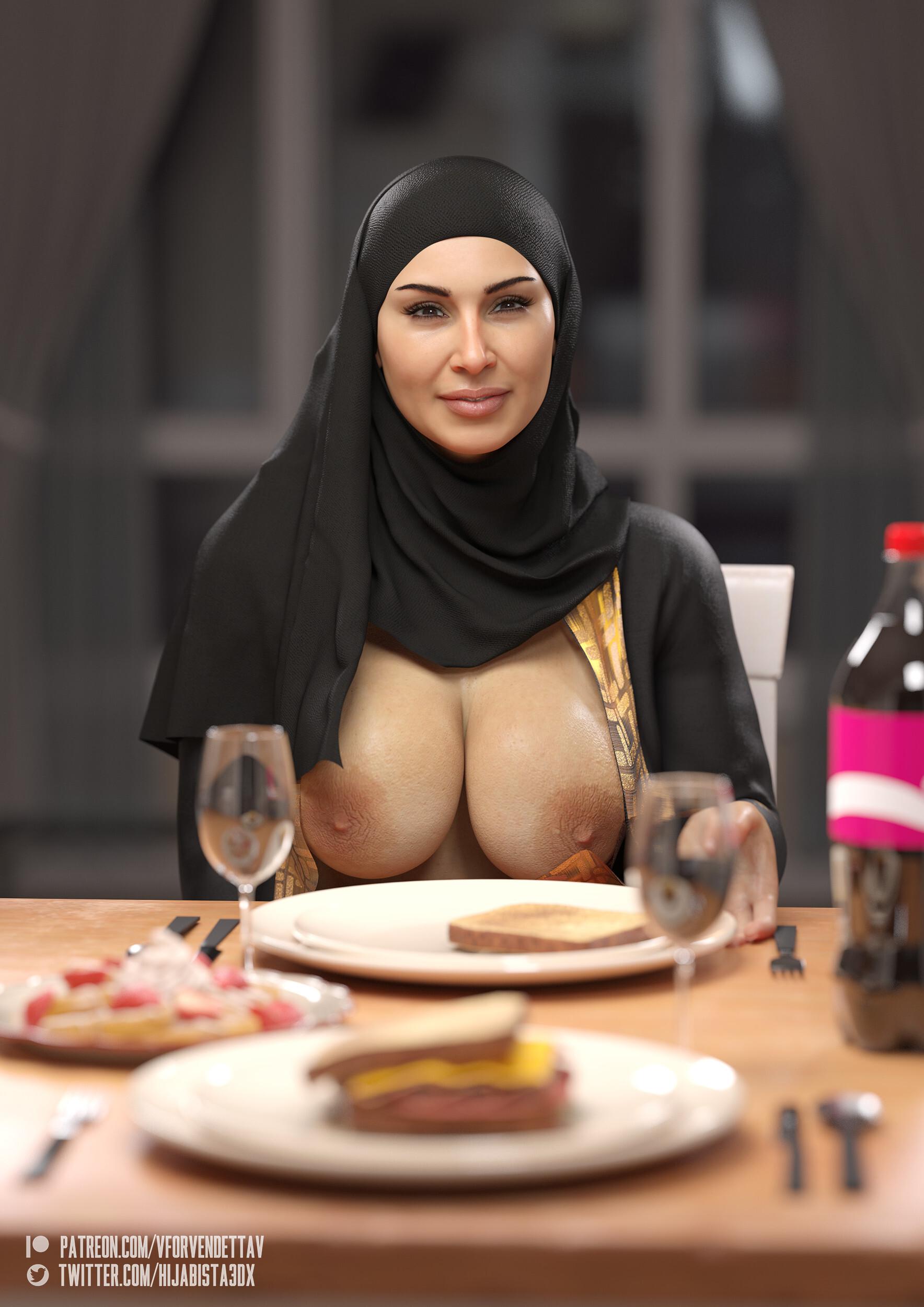 Hijab Milf Breaking Fast