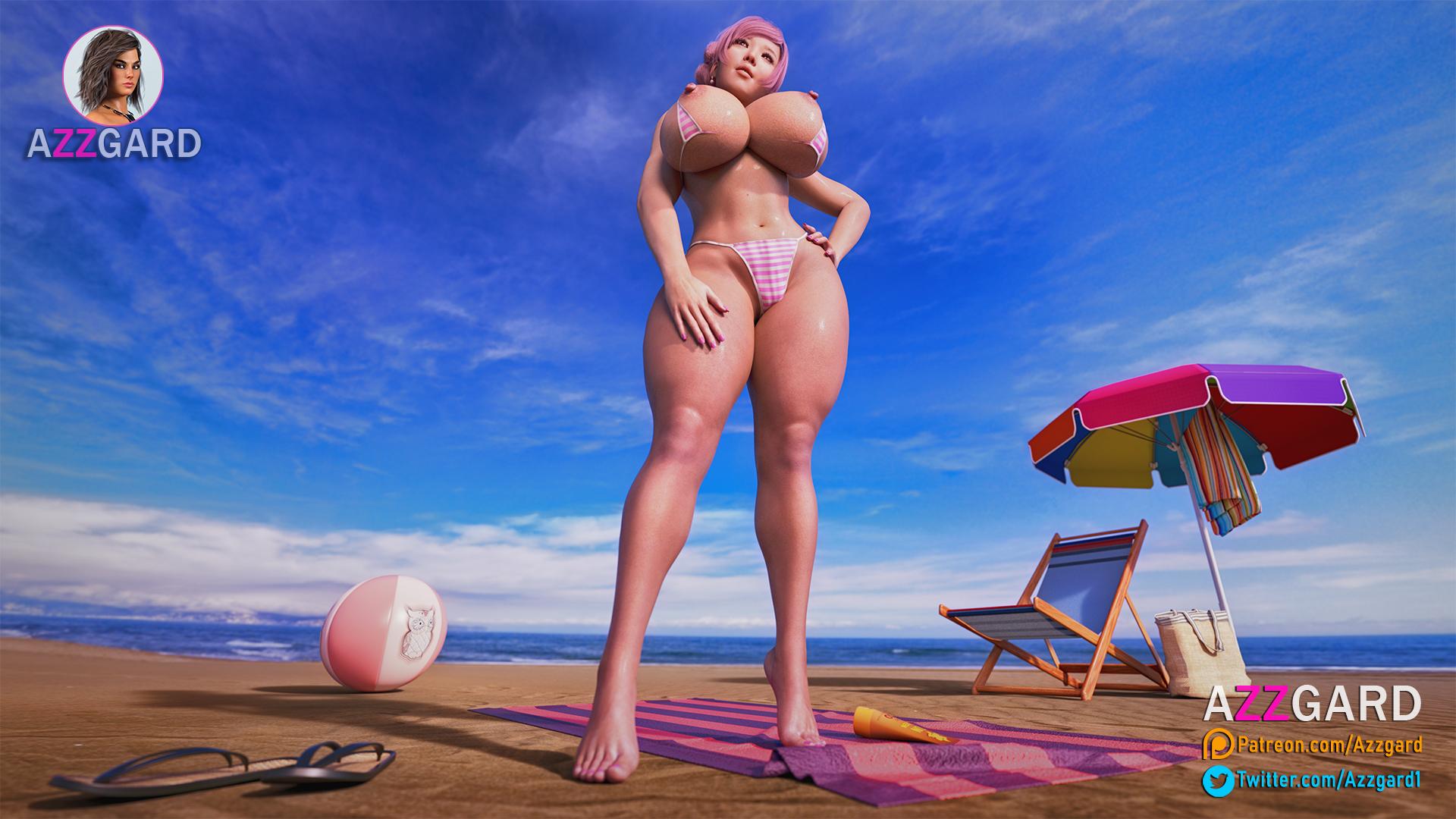 Marioka on the Beach