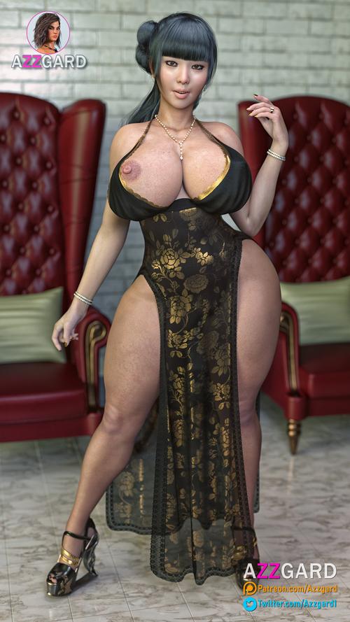 Marioka - Black Gold Dress