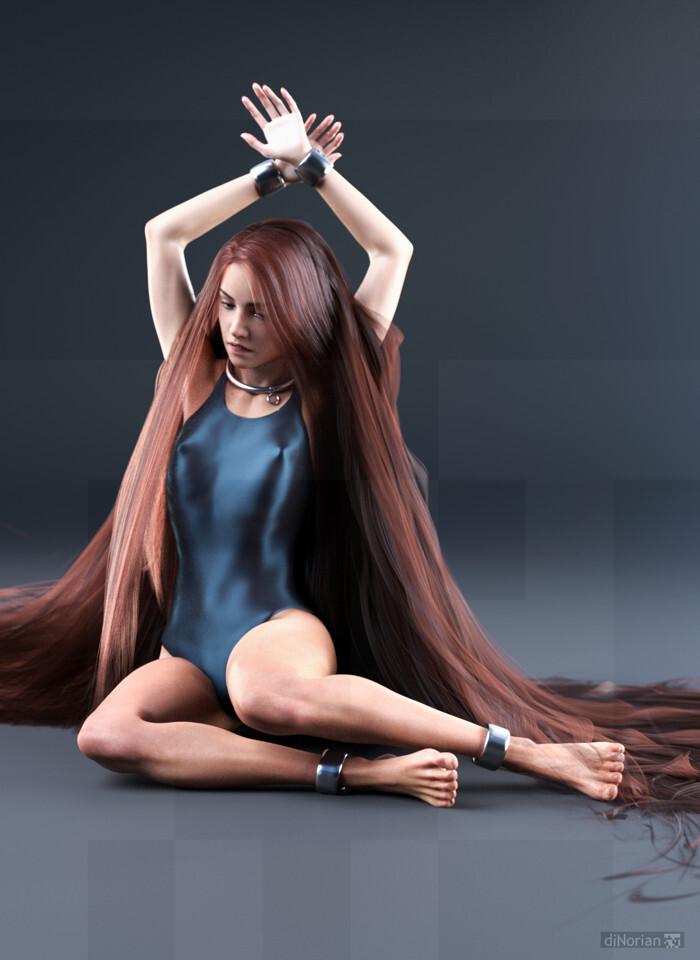 diNorian Test - Landed on Long Hair (dA)