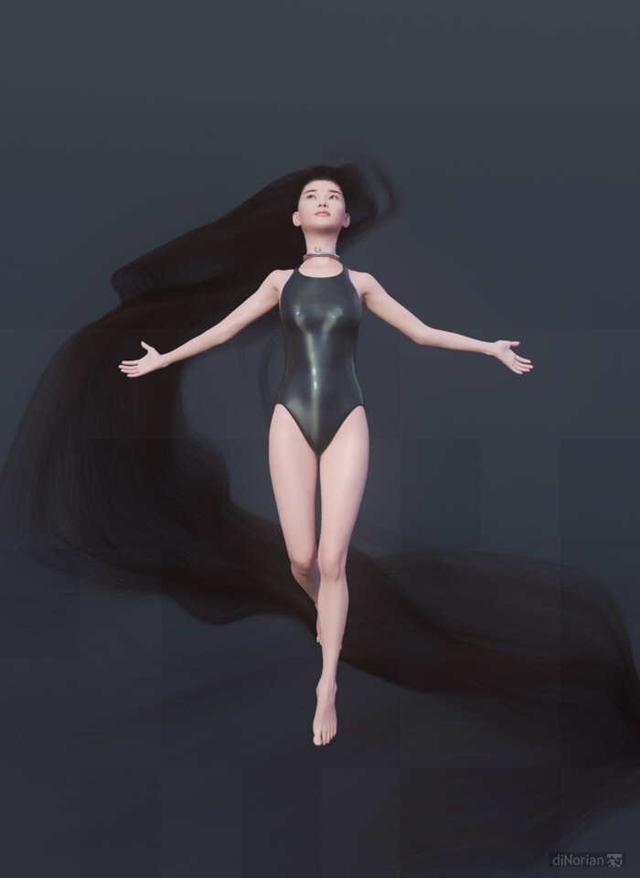 diNorian Test - Hairy Fairy Swimsuit (dA)