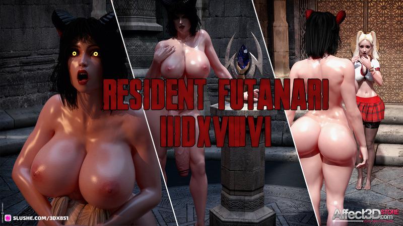 Threesome Demon Fuck – Resident Futanari by 3DX851