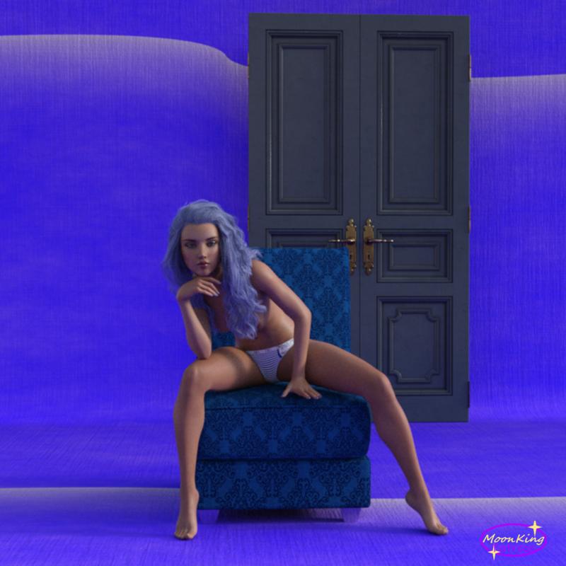 Dalja in Blue