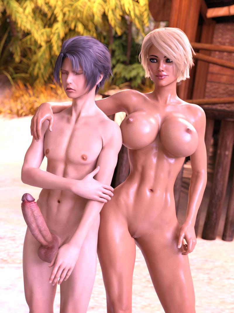 Nude Beach Shyness