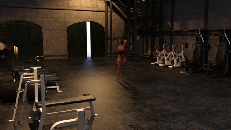 Gym for strong girls...