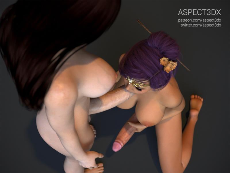 Ari & Tami - Dickgirl Blowjob