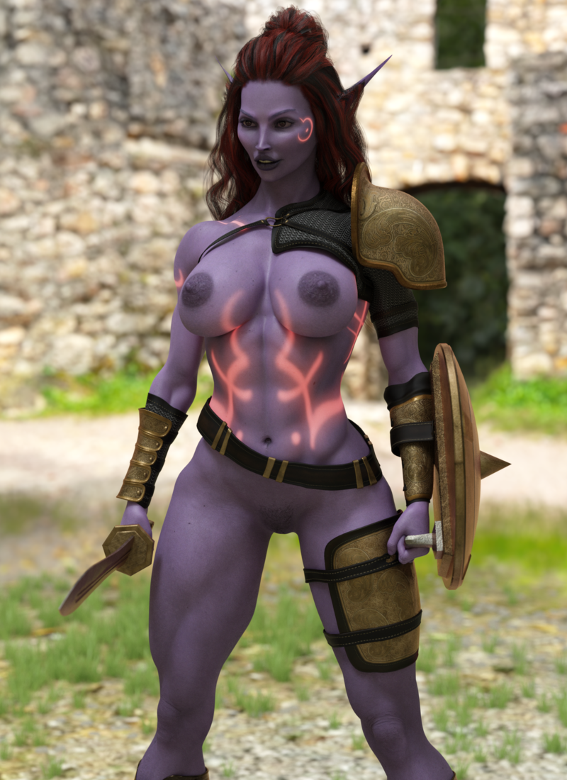 A dark elf warrior