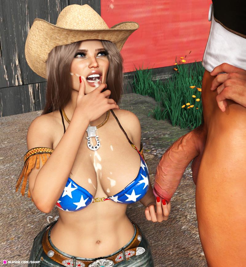 Cowboy blowjob