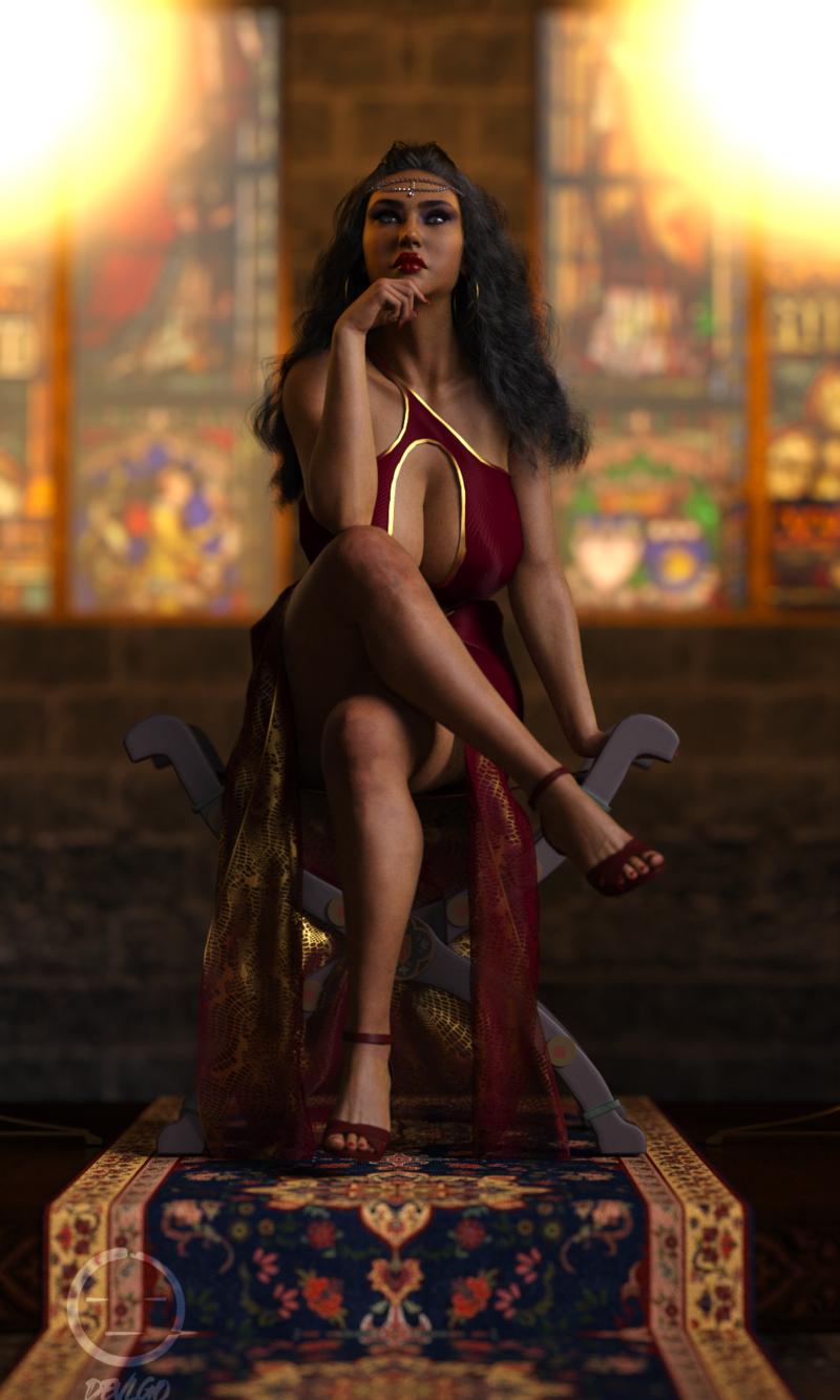 The Queen In Crimson