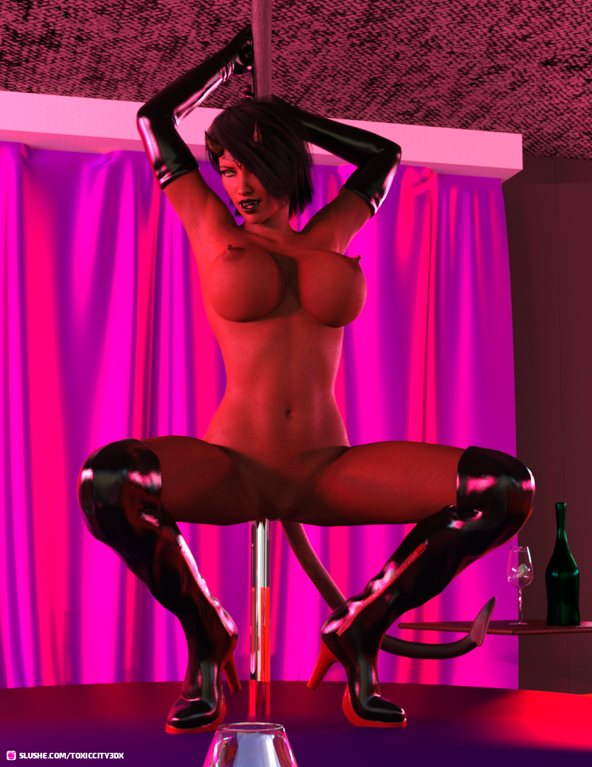 One hell of a poledance 2