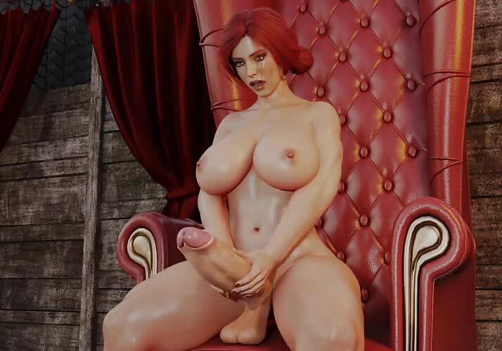 Triss Stroking Her Cock