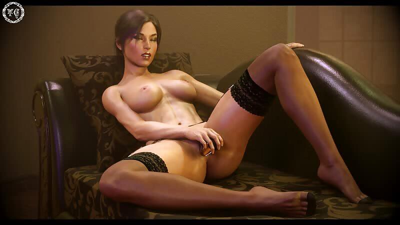 Lara Croft - Golden Dildo