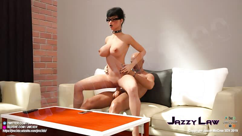 JMC3DX DAZ3D CREATIONS : JazzyLaw (from 3dxchat) reverse cowgirl fuck scene