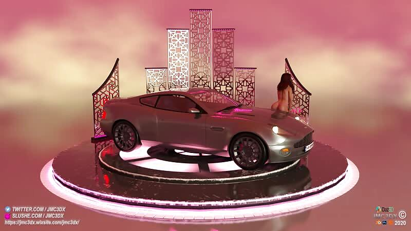 JMC3DX DAZ3D CREATIONS: SexxxyJessica with her Aston Martin Animation