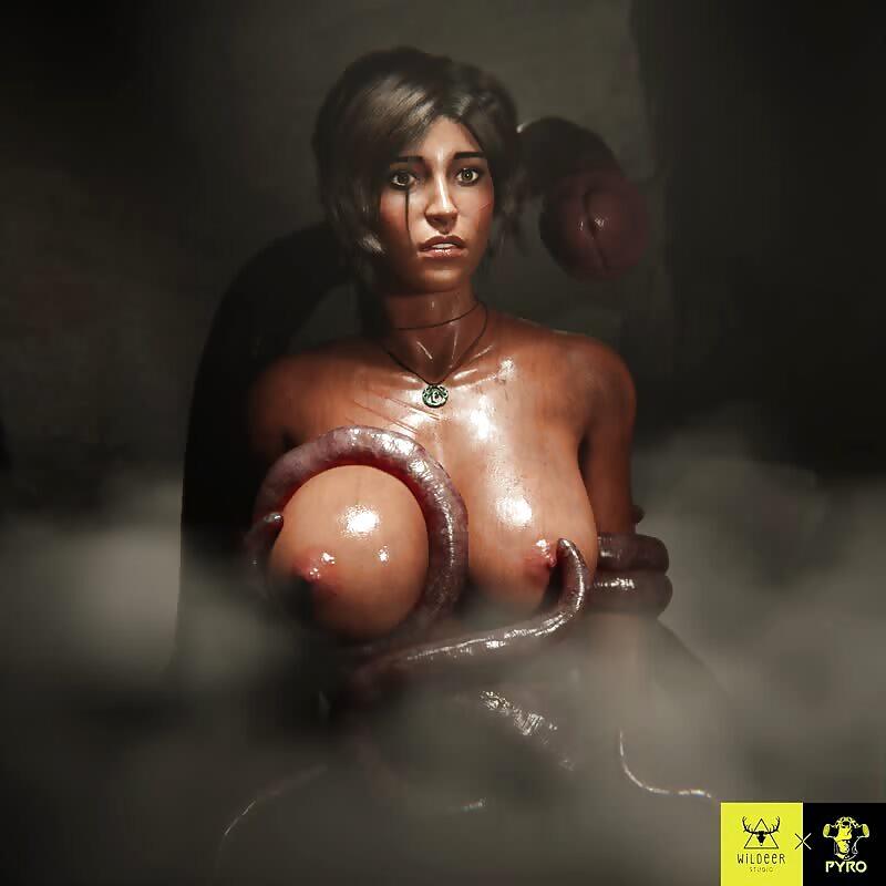Lara x Tentacle Tease
